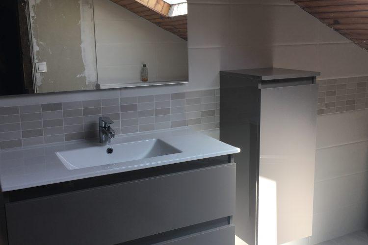 Renovation salle de bains sous les combles