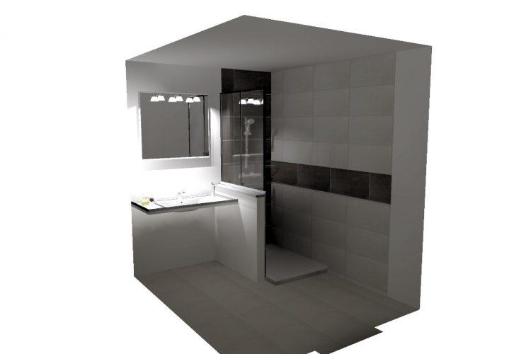 Remplacement baignoire par douche ouverte