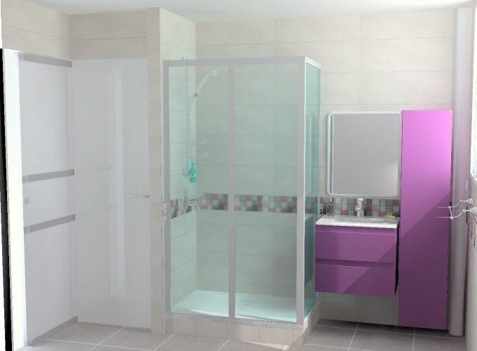rénovation complète salle de bains avec douche